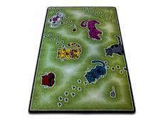 Dětský koberec KIDS Kočičky - zelený