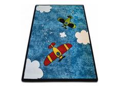 Dětský koberec KIDS Letadýlka - modrý