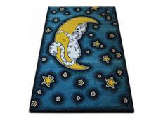 Dětský koberec KIDS Měsíček - modrý
