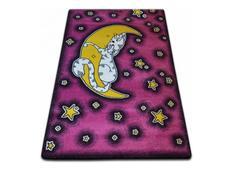 Dětský koberec KIDS Měsíček - růžový