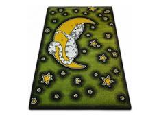 Dětský koberec KIDS Měsíček - zelený