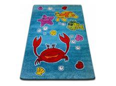 Dětský koberec KIDS Oceán - modrý