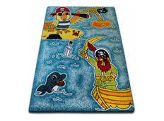 Dětský koberec KIDS Piráti - modrý