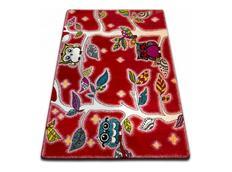 Dětský koberec KIDS Sovičkový les - červený