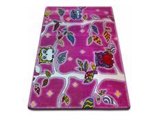 Dětský koberec KIDS Sovičkový les - růžový