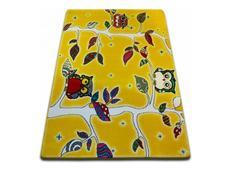 Dětský koberec KIDS Sovičkový les - žlutý