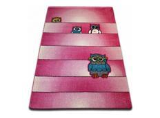 Dětský koberec KIDS Sovičky - růžový