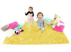 Dětský plyšový koberec ŽLUTÝ