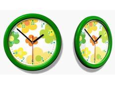 Dětské hodiny - žluté KVĚTY