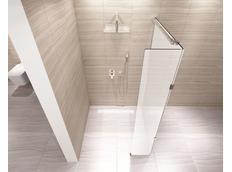 Koupelnová pevná zástěna AERO PLUS 100 cm MAT