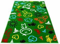 Dětský koberec SMILE green