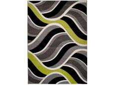 Moderní kusový koberec MATRA šedo-zelený 3481A
