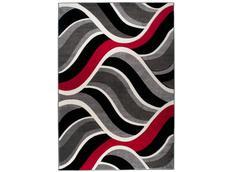 Moderní kusový koberec MATRA červeno-šedý 3481B