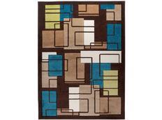 Moderní kusový koberec MATRA hnědý C236A