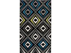 Moderní kusový koberec MATRA zeleno-modrý E332A