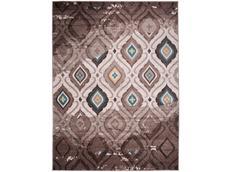 Moderní kusový koberec MATRA béžovo-modrý H109A