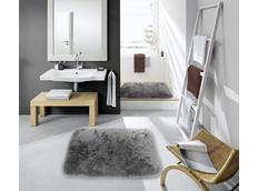 Koupelnová plyšová předložka ŠEDÁ