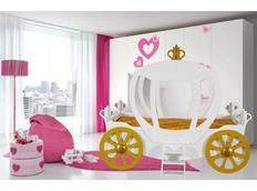 Dětská postel KOČÁR 180x90 cm - bílá