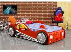 Dětská autopostel MONZA 190x90 cm - červená