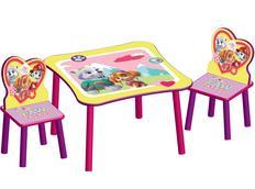 Dětský stůl s židlemi Tlapková patrola PINK