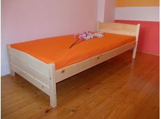 Vyšší postel z MASIVU IGNAZIO 200x90 cm + ROŠT