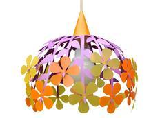 Dětská závěsná lampa KYTICE - oranžová