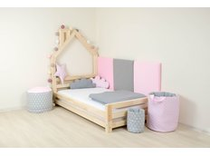 Dětská designová postel DOMEČEK 2 bez šuplíku