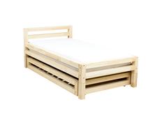 Dětská designová postel z masivu SINGLE se ŠUPLÍKEM