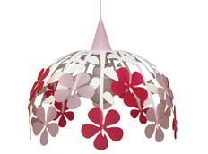 Dětská závěsná lampa KYTICE - červená