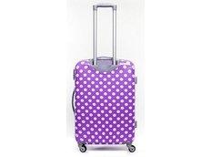 Moderní cestovní kufry PUNTÍKY - fialové