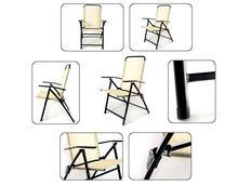 Skládací zahradní židle MARCO béžová