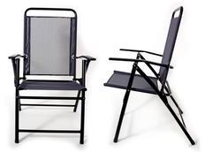 Skládací zahradní židle MARCO tm. šedá