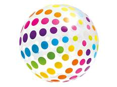 Nafukovací plážový míč barevný 107 cm Puntíky