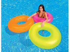 Kruh plavací NEON 91 cm RŮŽOVÁ