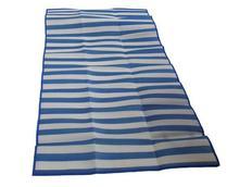 Skládací plážové lehátko PLASTIC  modrobílá