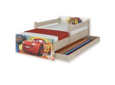 Dětská postel MAX Disney - AUTA 180x90 cm - SE ŠUPLÍKEM