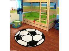 Dětský koberec DESIGN VELOURS Fotbal - kulatý
