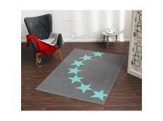 Kusový koberec CITY MIX Star - šedo-modrý