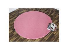 Kusový koberec Nasty - růžový kulatý
