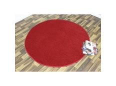 Kusový koberec Nasty - červený kulatý