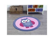 Kulatý kusový koberec Deko Sova - růžový
