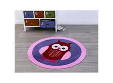 Kulatý kusový koberec Deko Sova - fialový