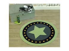 Dětský koberec DEKO Star - zelený kulatý