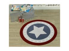 Dětský koberec DEKO Star - modro-červený kulatý