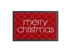"""Rohožka Printy """"Merry Christmas"""" - červená"""