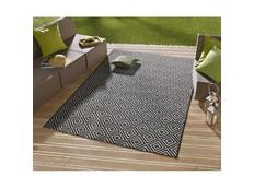 Kusový koberec Meadow Karo - černý