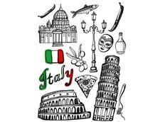 Designová samolepka ITÁLIE