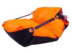 Sedací pytel DUO černá + fluo oranžová - 189x140 cm