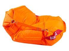 Sedací pytel s popruhy oranžový fluo 189x140 cm - COMFORT
