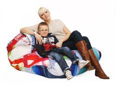 Designový sedací vak s popruhy GRAPHIC - 189x140 cm